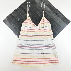 Womens Volcom Cream Stripe Tank Top Size M